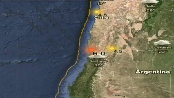 規模6.0地震襲智利 聖地亞哥建物晃動
