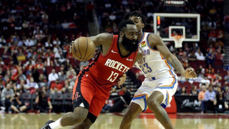 NBA休士顿火箭6人得分上双 勇士吞败