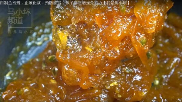 两样材料自制金桔膏 止咳化痰 增强免疫力(视频)