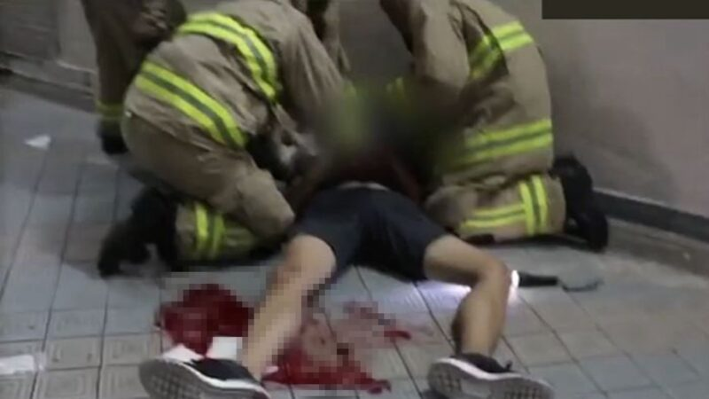港警停车场射催泪弹 科大生躲避时坠楼昏迷