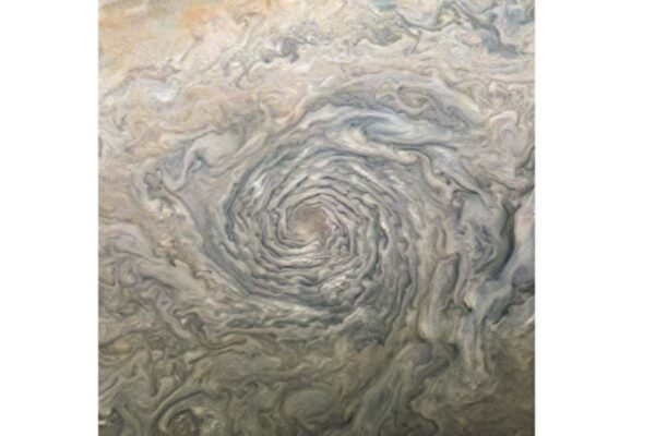 木星氣旋風暴構成迷幻圖像