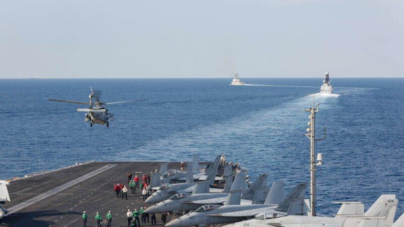 威懾伊朗 林肯號航空母艦首次駛入波斯灣