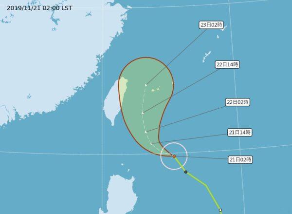 台风凤凰往东偏移 海警未排除但概率降低