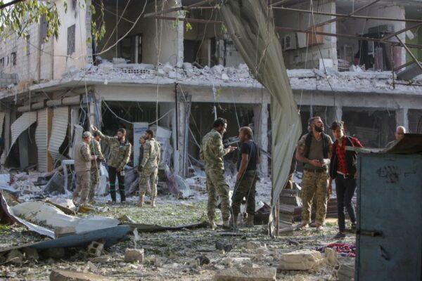 平静两周后 叙利亚边境遭炸弹攻击13死30伤