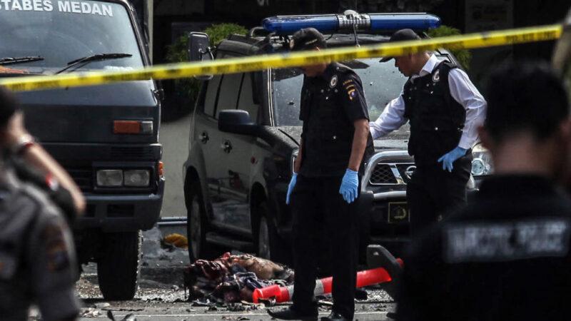 印尼棉兰警署总部遭自杀炸弹攻击 酿1死6伤