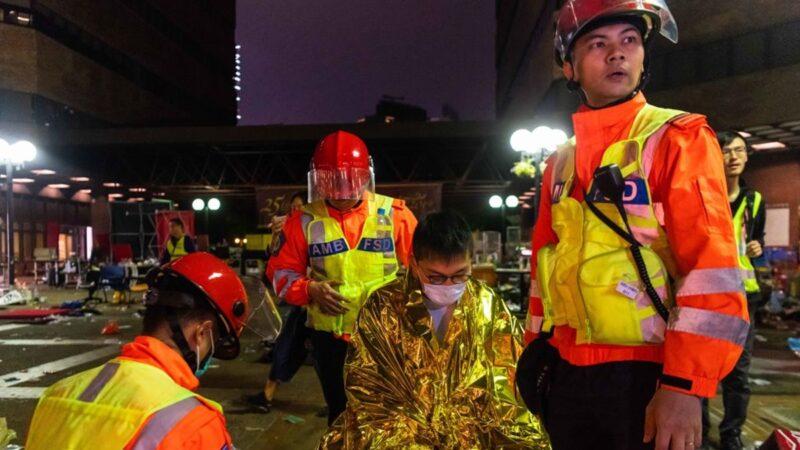 【直播回放】11.20理工大學第二批急救人員離開