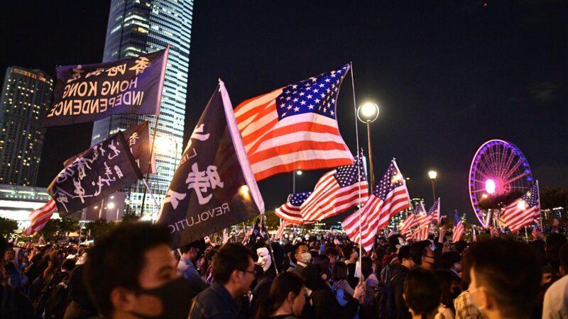 香港法案签署黑警难逃 10万人集会感谢川普