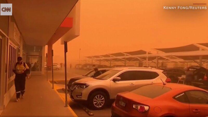 40度高溫下沙塵暴來襲 澳洲小鎮秒變「火星」