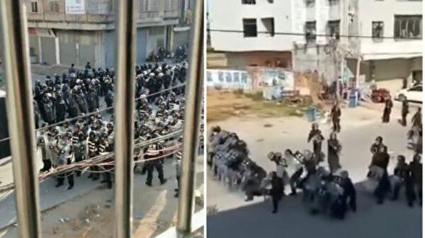 """广东民众高喊""""时代革命""""大规模抗争视频曝光"""