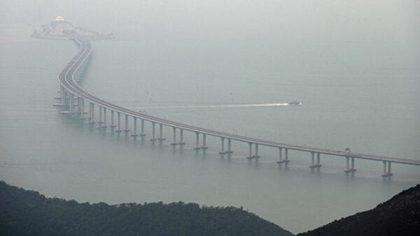 港珠澳大桥通车1年即下沉 控制塔下陷近10公分