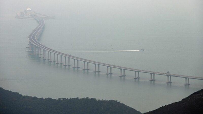 港珠澳大橋通車1年即下沉 控制塔下陷近10公分