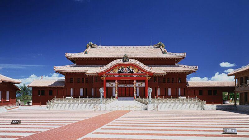 日本琉球王宫殿大火 康熙手书曾悬挂于宫中