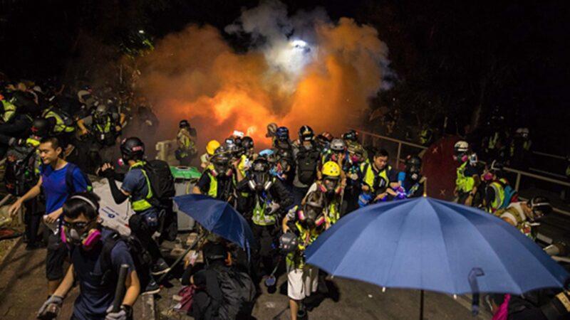 韩国大学挺香港 与中国留学生冲突打成一团
