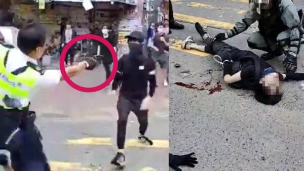 港警連開3槍細節曝光 民眾聚集怒指「殺人犯」