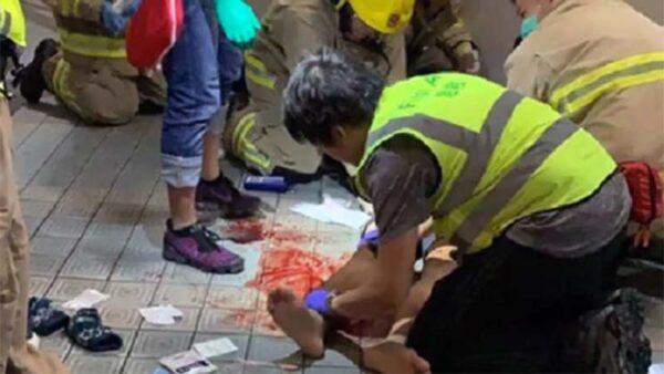 香港警方否認推科大學生墜樓 目擊者反駁