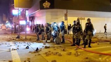 【直播回放】11.16凌晨香港旺角 警民冲突