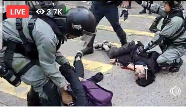 香港今天大三罢 警无预警连开3枪酿血案(视频)