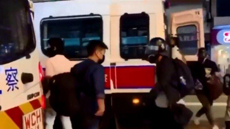 港警乔装抗争者 走下警车影片曝光(视频)
