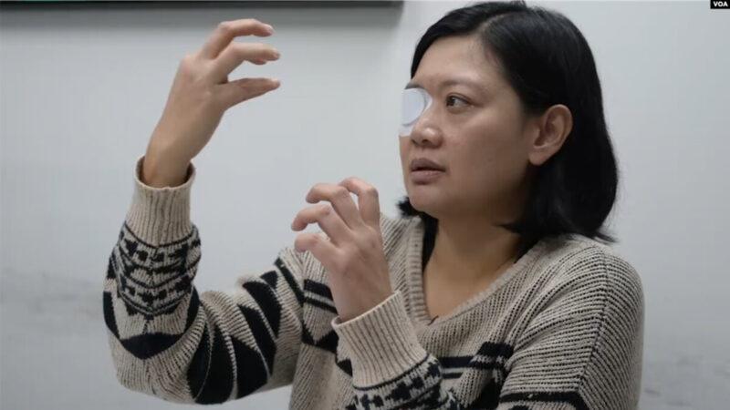 失明女记者告港警暴力 案子推不动