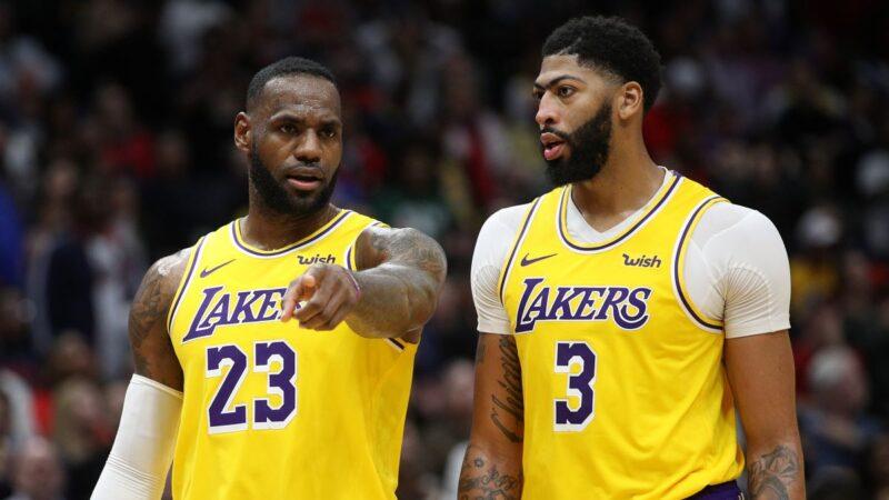 NBA湖人双星擒爵士 客场豪取10连胜