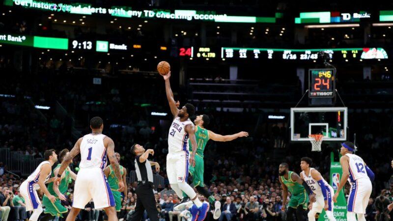 NBA安比德客场逞威 76人拿下绿衫军