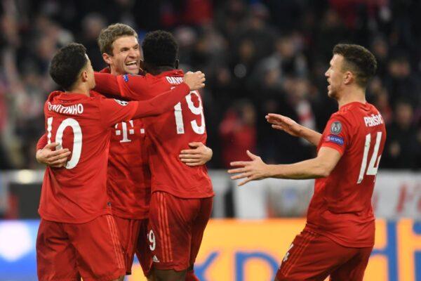 欧冠16强:首次由欧洲五大联赛球队包揽