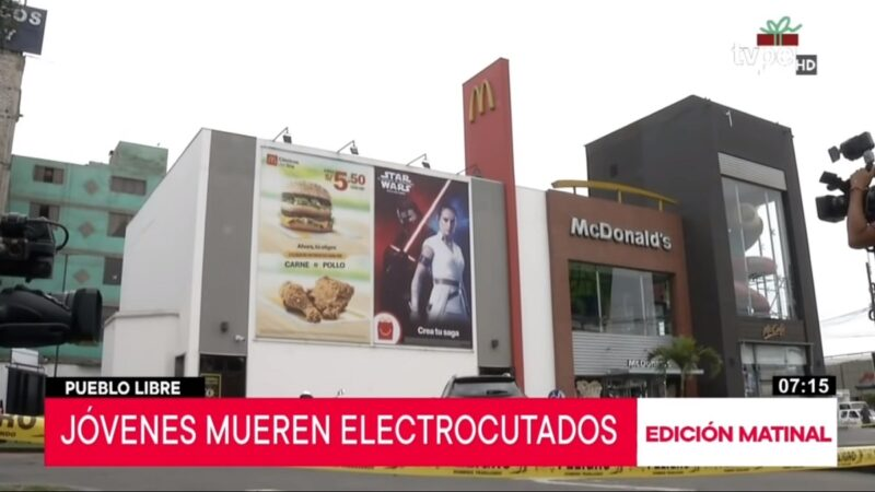 員工觸電身亡 麥當勞秘魯29家分店安檢暫停營業