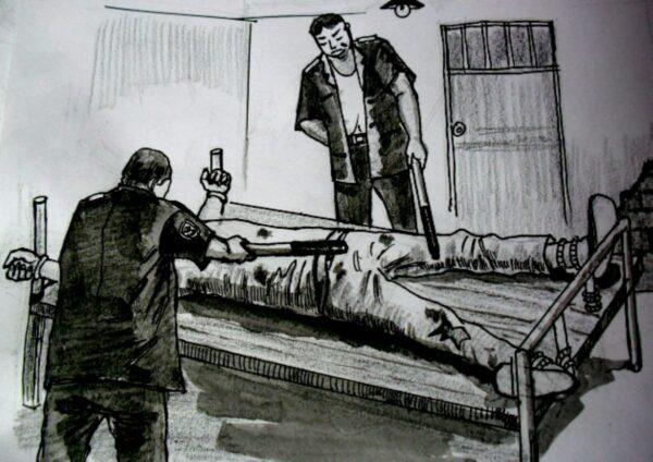 公主嶺新生監獄電刑「約束帶」害法輪功學員