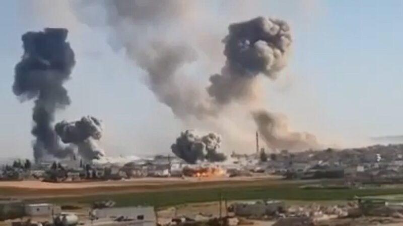 敘利亞衝突升級逾60死 俄戰鬥機轟炸再爆遷徙潮(視頻)
