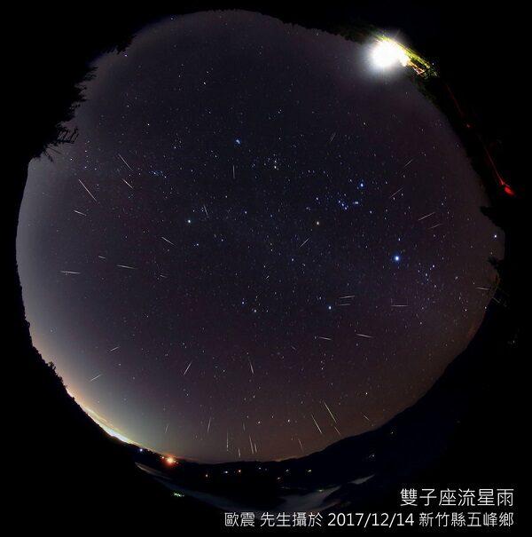 歲末流星秀每小時140顆  雙子座流星雨14日達極大期