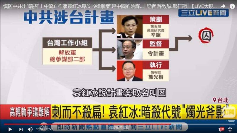 袁紅冰再揭陳水扁遇襲:令計劃負責 有刺囚兩套方案