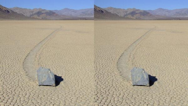 """天造地设 死亡谷""""走路的石头"""""""