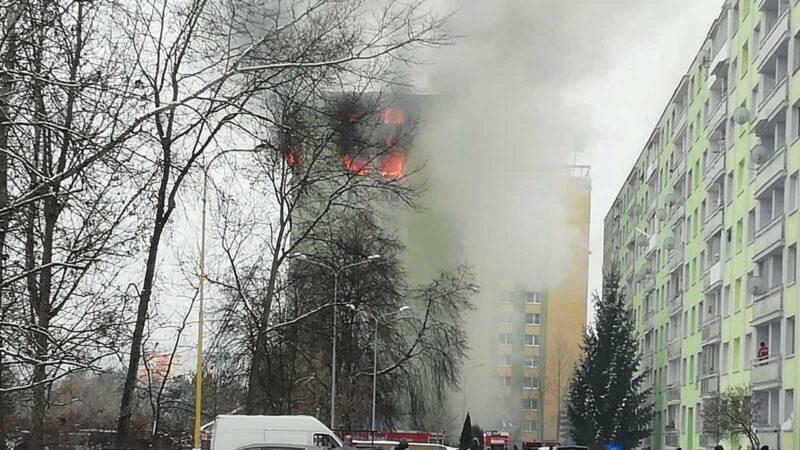 斯洛伐克12层大楼气爆 大火延烧至少5死数十伤