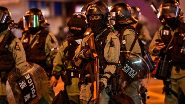 港警太子站連開槍 女子眼部中彈多人被捕