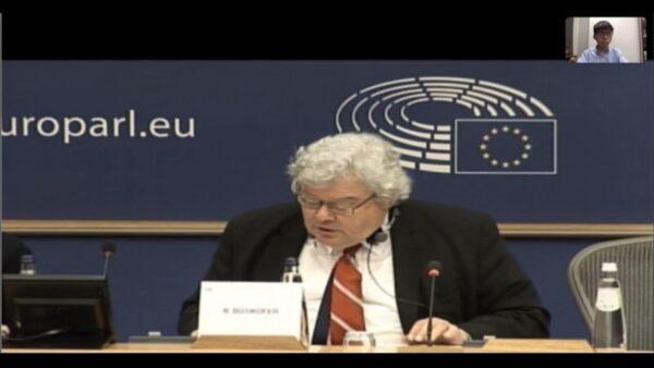 黃之鋒與歐洲議會視訊 拿「耿爽模擬器」諷中共