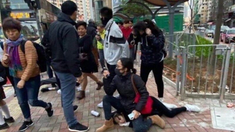 港警再抓多名中學生 直接坐被捕女生頭上
