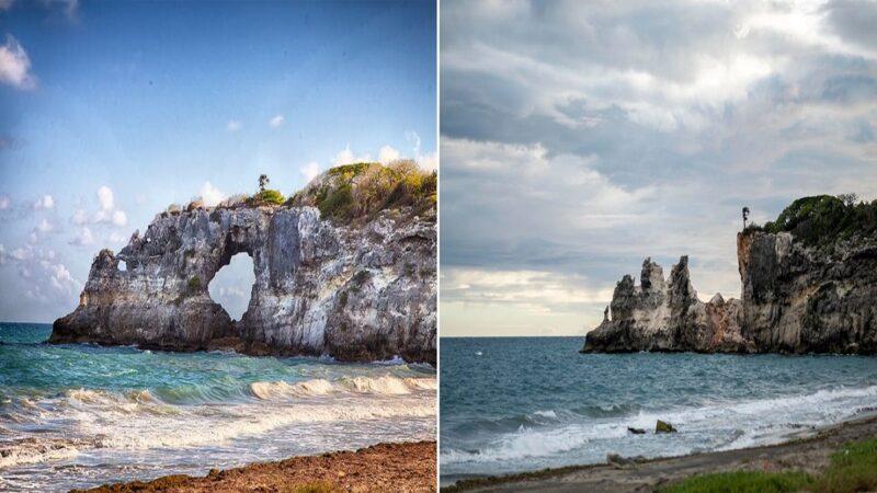 波多黎各5.8地震 著名石拱门坍塌落入海中