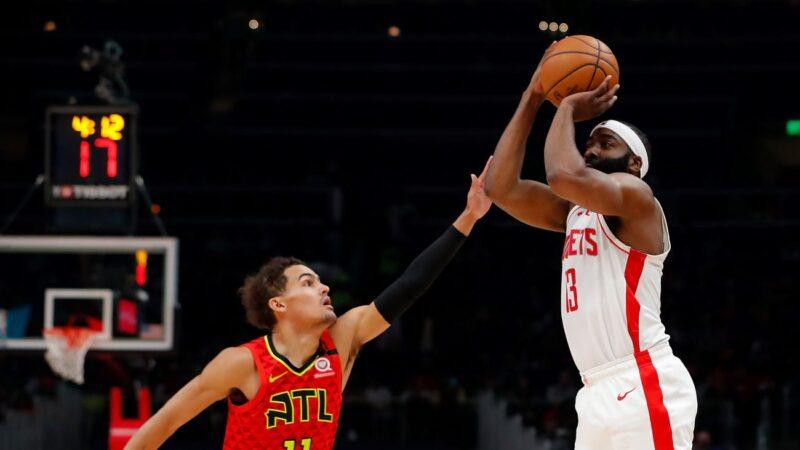 NBA楊恩哈登互轟40分等級大三元 火箭捕獲老鷹
