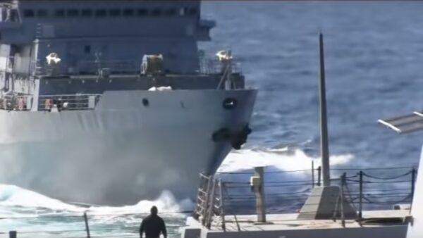 中东挑衅 俄舰逼近美舰不到55公尺才转向(视频)