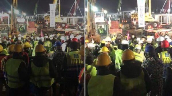 武漢火神山醫院趕工現場爆混戰 央視直播中斷(視頻)