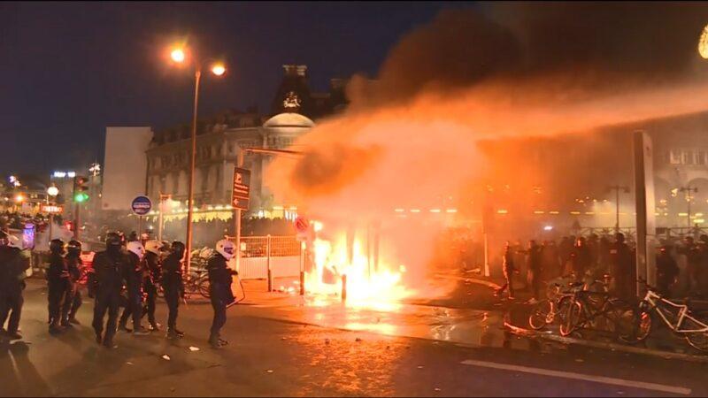 法年金改革再現抗議潮 馬克龍險遭包圍 警逮逾59人