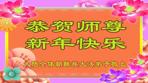 中國各民族法輪功學員新年叩謝師恩