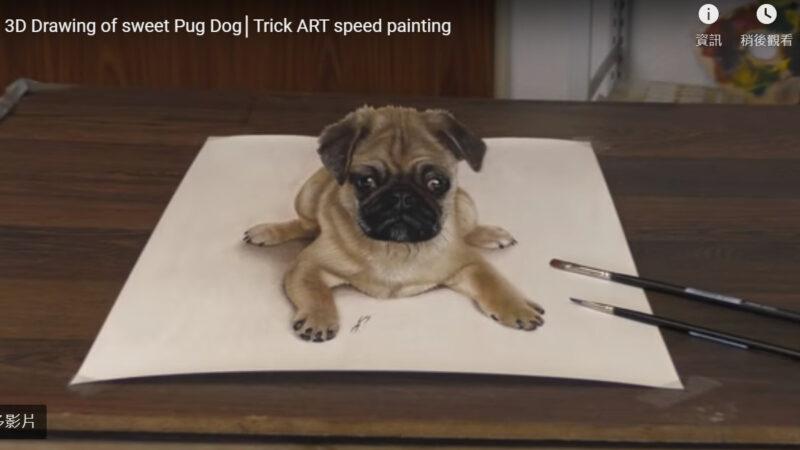 德男超写实3D绘画 会让你产生视错觉(视频)