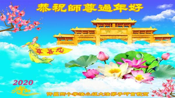 中國各省市學法點法輪功學員給李洪志大師拜年(27條)