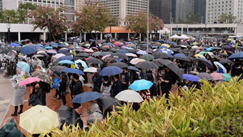 跨年夜港人築起幾公里人鏈 呼籲繼續抗爭