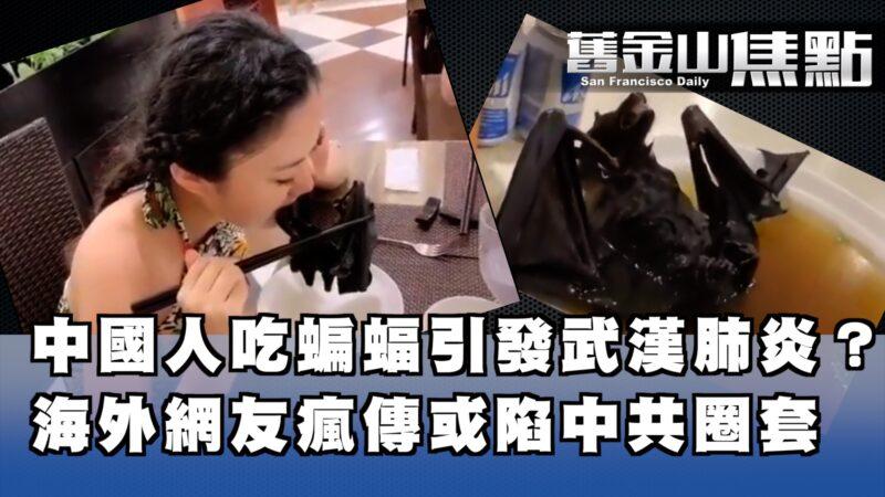 中國人吃蝙蝠 感染武漢肺炎新型病毒 或是中共故意導風向