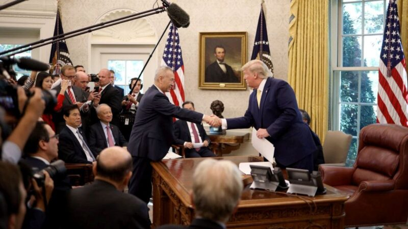 傳劉鶴帶隊1月13日赴美簽署首階段貿易協議