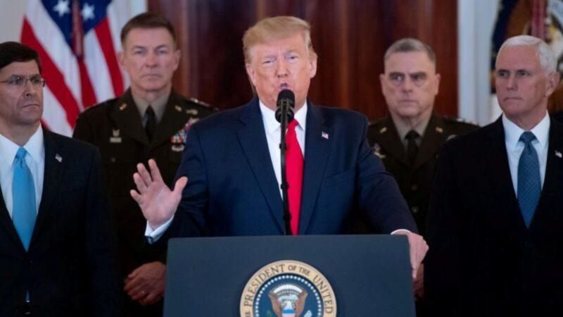 川普全国讲话:无意军事回应 继续经济制裁