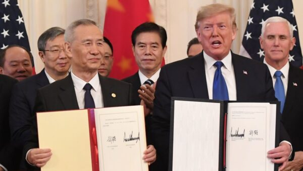 美中簽署第一階段貿易協議 劉鶴宣讀習近平信件