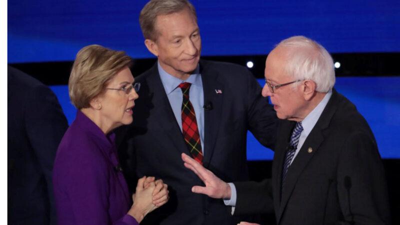 民主党初选辩论 沃伦与桑德斯互呛骗子